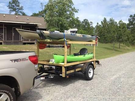 Image result for wooden kayak rack for utility trailer
