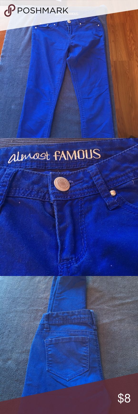 Almost Famous Blue Skinny Pants Almost Famous Blue Skinny Pants Size 1 Condition Used fairly new Almost Famous Jeans Skinny