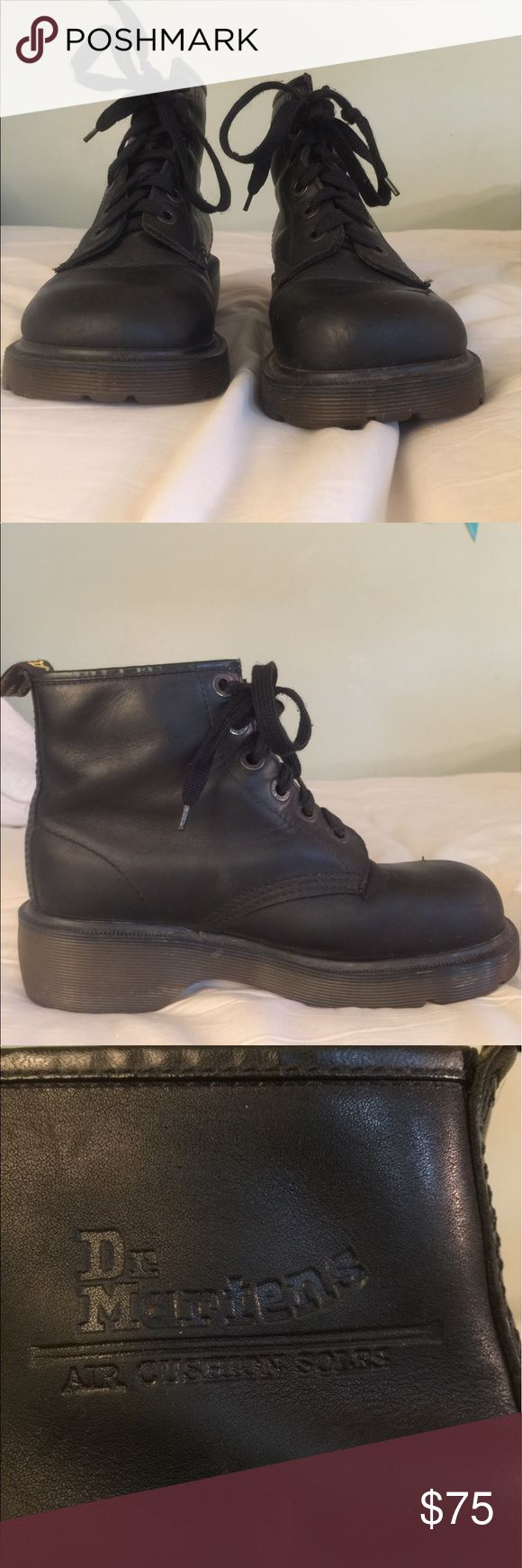 Doctor Marten's 6 Hole Women's Combat Boots Doctor Marten's 6 Hole Women's Combat Boots ... Size 7 US... 38 European.... very good condition... one minor scrape on the left toe doctor martens Shoes Combat & Moto Boots