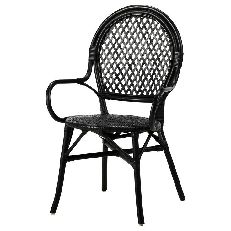 IKEA ÄLMSTA Chair Rattan/black Each Piece Of Furniture Is Unique As It Is  Handmade.