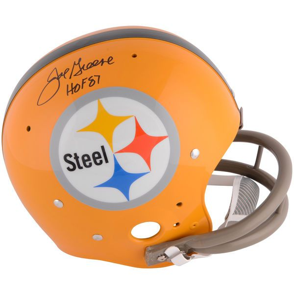 Joe Greene Pittsburgh Steelers Fanatics Authentic Autographed Yellow TK Suspension Helmet with HOF 87 Inscription - $399.99