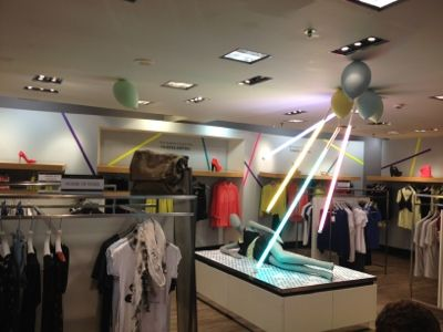 sun rays in-store at Harvey Nichols Leeds, pinned by Ton van dedr Veer