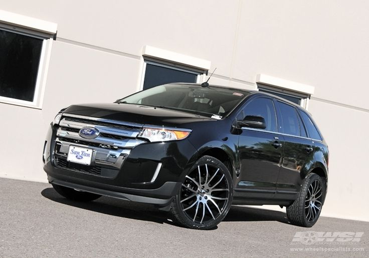 "2012 Ford Edge with 22"" Giovanna Kilis in Machined Black wheels 