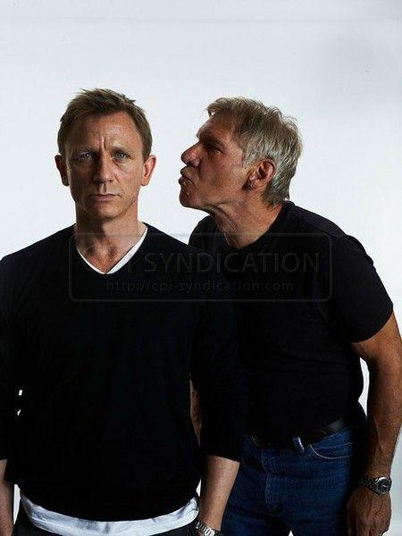 Daniel Craig with Harrison Ford
