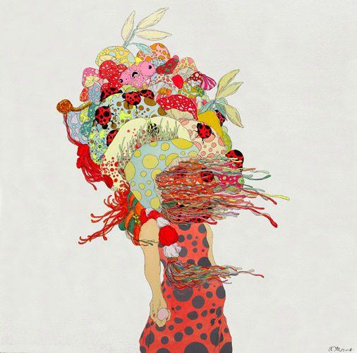 Love these paintings by artist Zhou Fan.