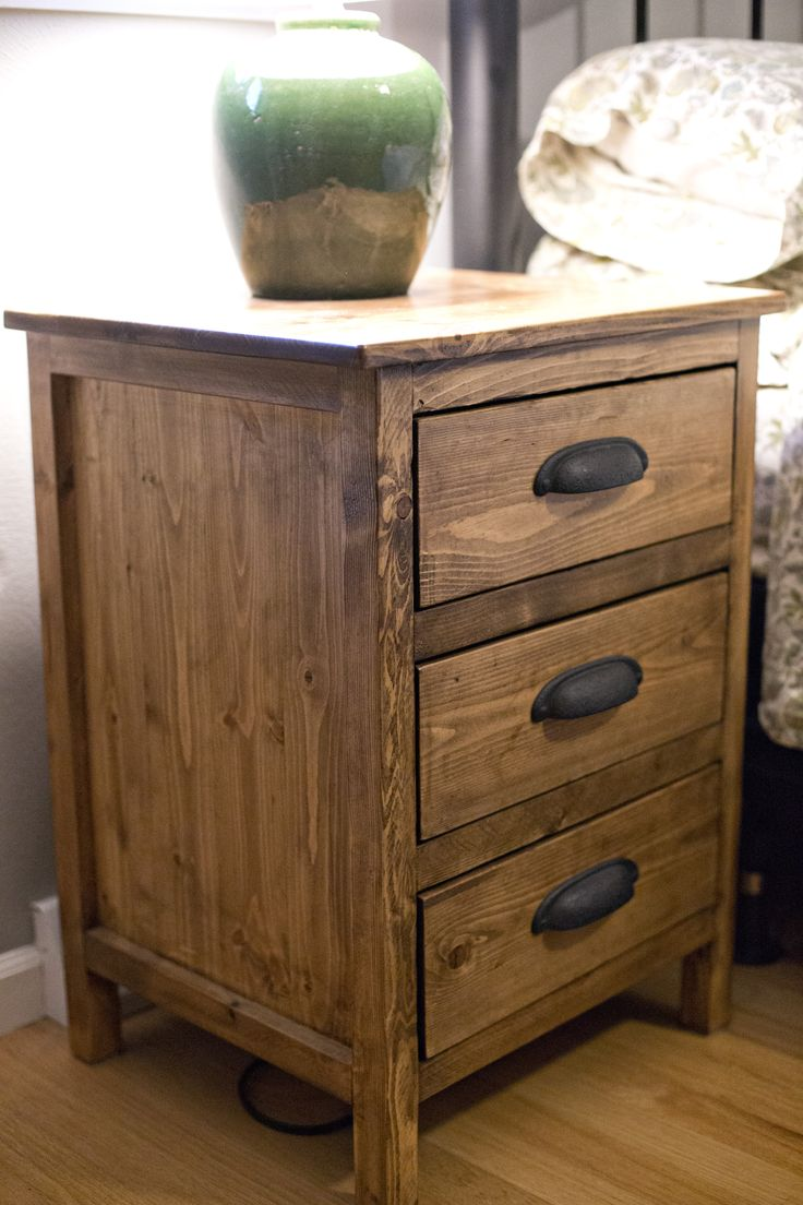 Reclaimed Wood Night Stand Do It Yourself