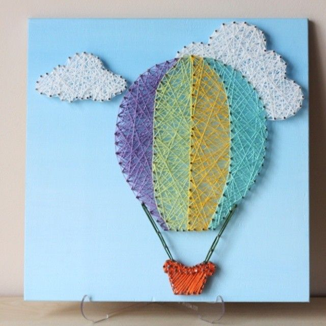 Best 25 string wall art ideas on pinterest string art diy hot air balloon string wall art for a nursery room prinsesfo Gallery