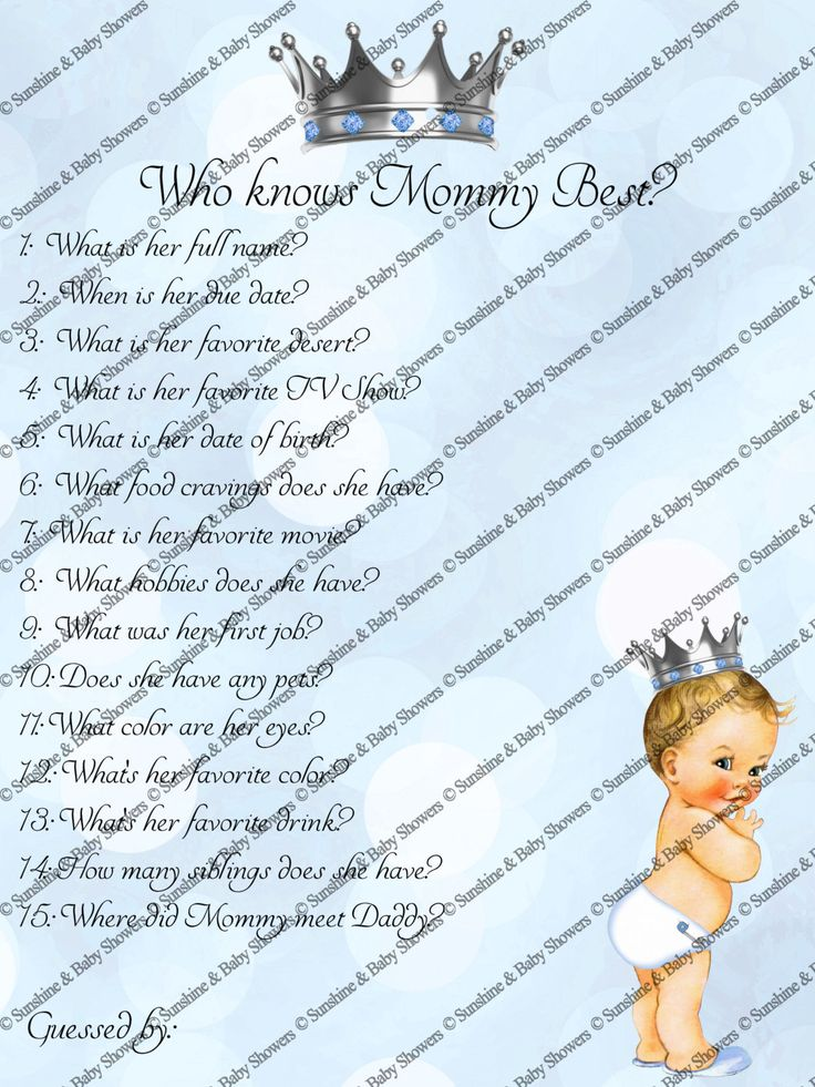 #babyshowergames #babyshowerideas Baby Shower Games,who knows mom best, prince,Boy,Baby Shower Ideas,Printable,Mummy,Mommy,prince baby shower,little prince,Baby Shower by SunshineBabyShowers on Etsy