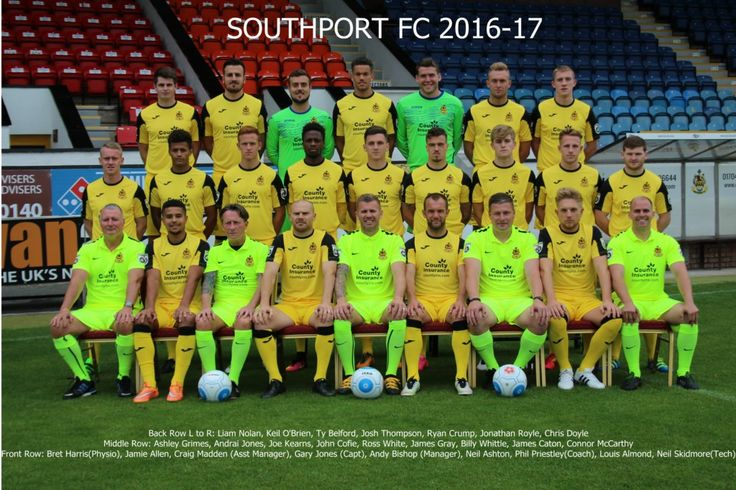 Southport FC team group in 2016-17.