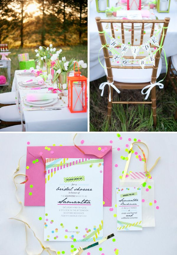 i love the pops of color and the modern, yet elegant feel of the outdoor dinner party #stylelab