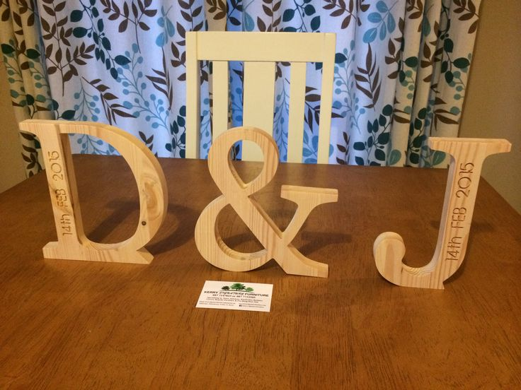 Natural Solid Wood engraved with Wedding Date