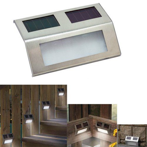 Solar Outdoor Patio Deck Lights: LED Solar Wedge Lights For Stairways, Fence Or Patio