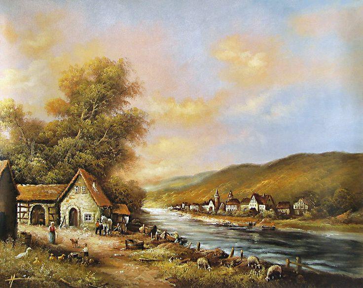 Riverside Village (Reprint on Paper - Unframed)