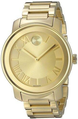 Movado 3600197 Women's Yellow Steel Champagne Dial Watch
