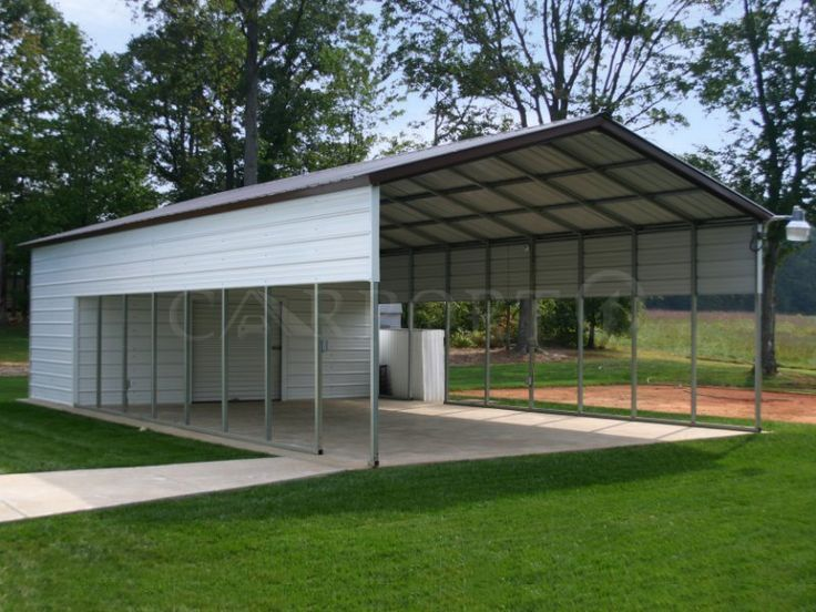 Double Car AllSteel Carport 20x51 Two Cars Carport for