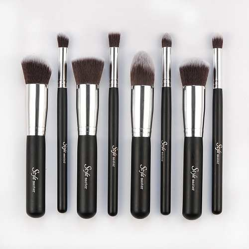 Kit 8 Pincéis Sintéticos De Maquiagem P/ Face Similar Sigma