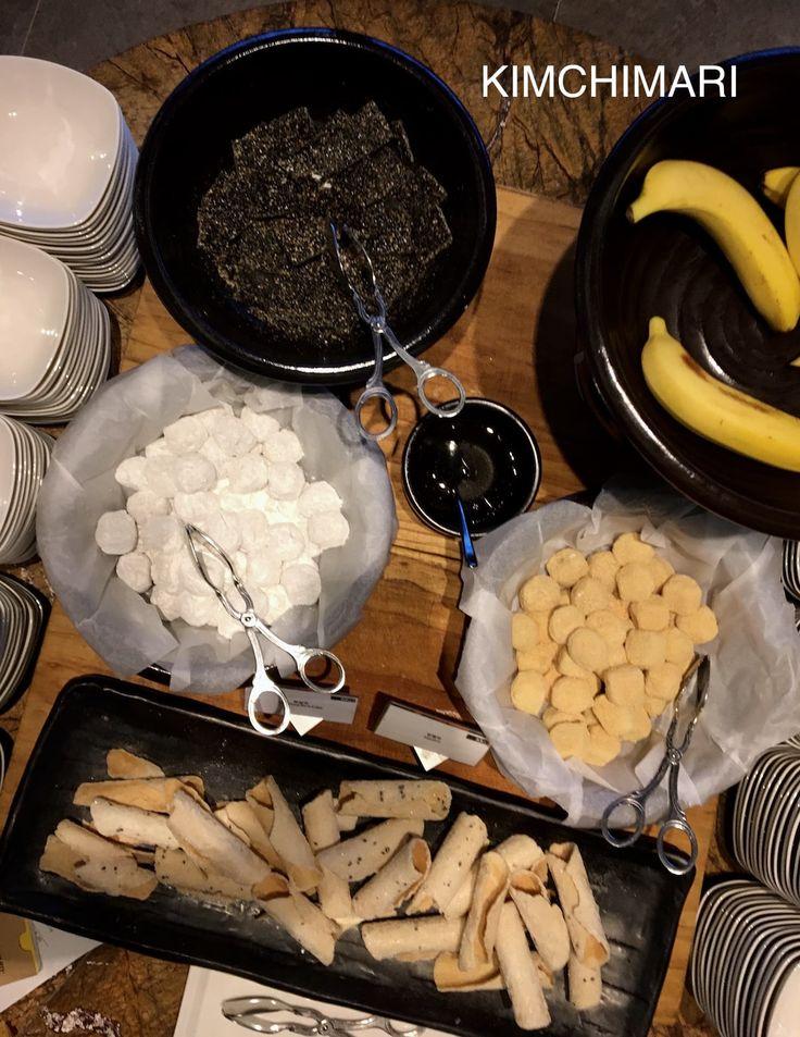 Korean breakfast buffet at Pangyo Korea. How to enjoy Korean porridge and more.