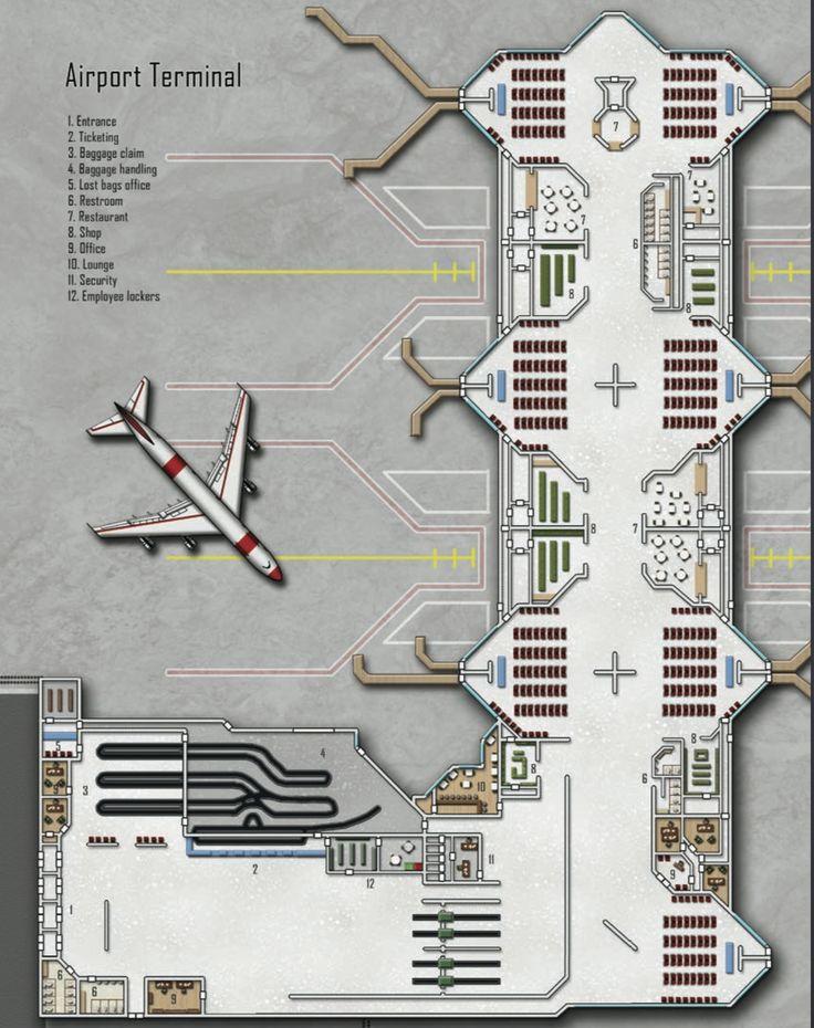 Airport floor plan design thefloors co for Floor plan mapper