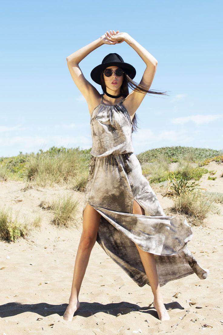 Tie Dye Cut Out Maxi Φόρεμα - ΡΟΥΧΑ -> Φορέματα & Φόρμες | Made of Grace