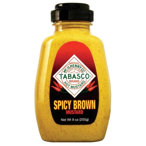 TABASCO<sup>®</sup> Spicy Brown Mustard. BAE's fave