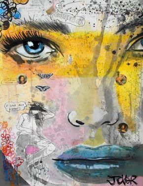 "Saatchi Online Artist Loui Jover; Mixed Media, ""I love not knowing"" #art"