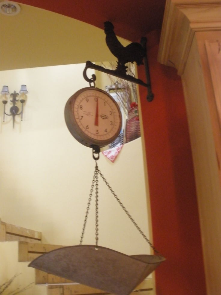 Vintage Scale Hanging From Rooster Hook Is The Place I Put