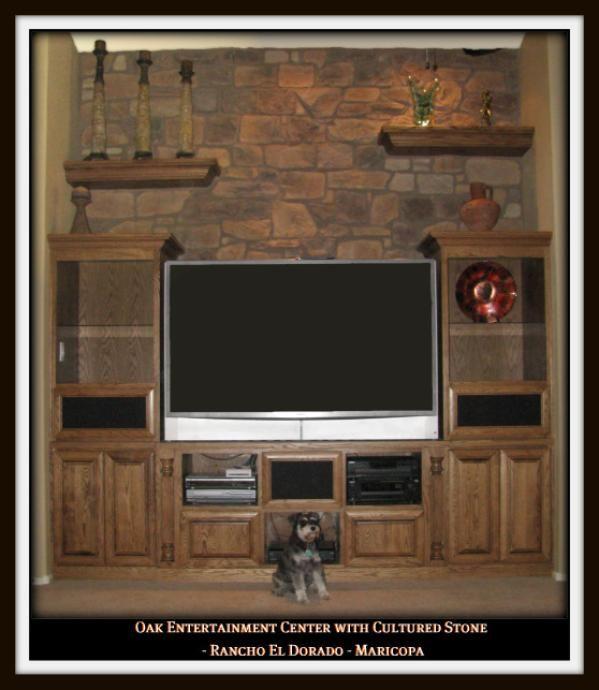 Custom Built Stone Entertainment Center Ideas Chandler