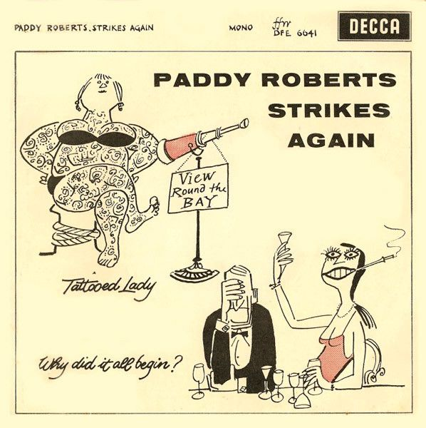 """Paddy Roberts with The Dennis Wilson Octet - Paddy Roberts Strikes Again 1960 (Vinyl 45 RPM 7"""" EP) at Discogs"""