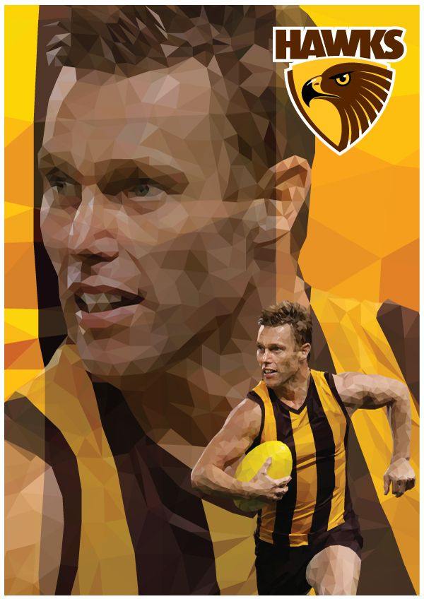 Sam Mitchell Hawthorn Football Club AFL By Ross McRae Design