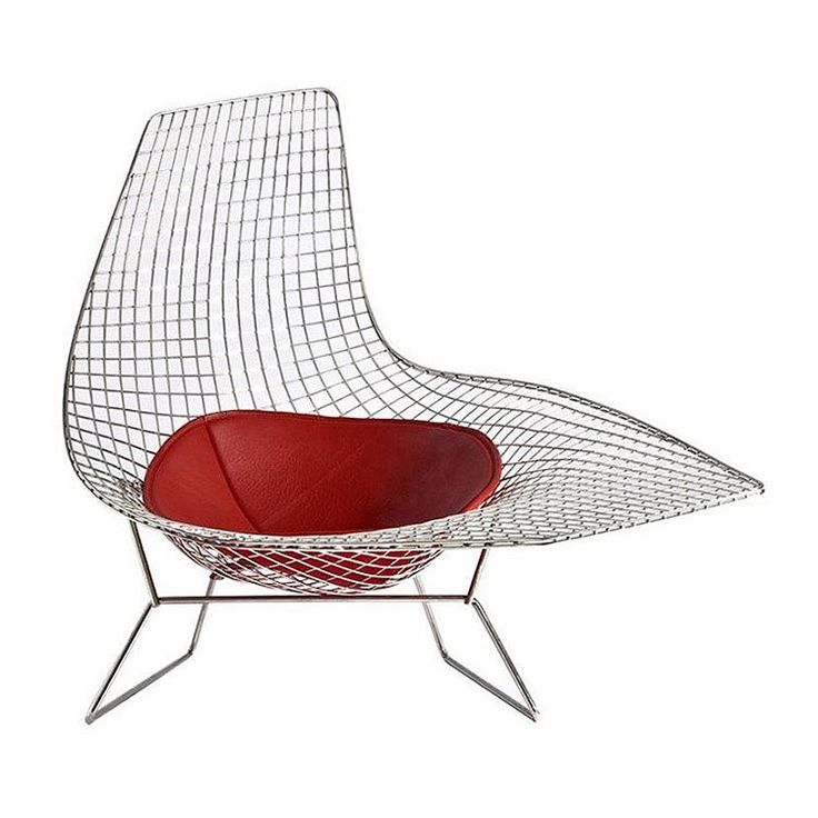 Whilst #HarryBertoia was born in #italy, it was at age 15 he moved to America where he became known as a  #sculptor and #furniture #designer. #Bertoia created a range of wire chairs in #1952, including the #DiamondChair, #BirdChair and #BertoiaWireChair.  The #Asymmetrical #Chaiselounge is the most sculptural of his designs. The #chair is made from welded steel rods into an organic flowing form.  While the original design was only created as a prototype, the #chaise was recently put into…