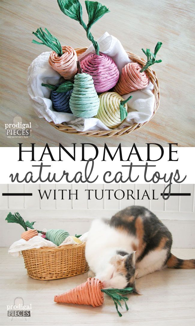 How to Make Natural Catnip Cat Toys with Tutorial by Prodigal Pieces | www.prodigalpieces.com