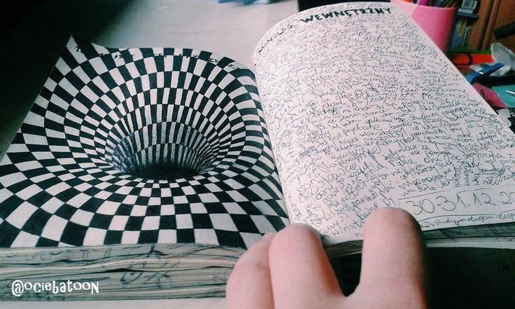 Podesłała Ociebatoon Ania Rejman #zniszcztendziennikwszedzie #zniszcztendziennik #kerismith #wreckthisjournal #book #ksiazka #KreatywnaDestrukcja #DIY