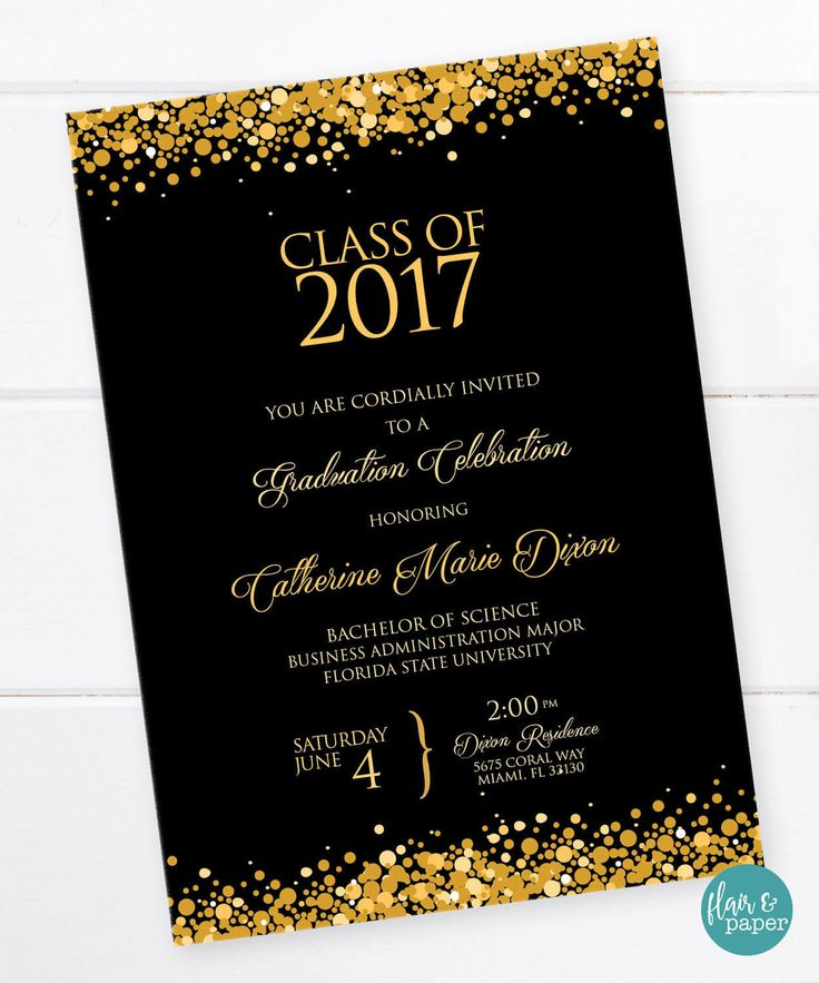 Graduation Invitation, Graduation Celebration, College Graduation,  High School Graduation, University, Graduation Party - PRINTABLE by FlairandPaper on Etsy