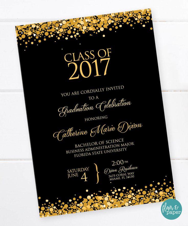 Graduation Invitation, Graduation Celebration, College Graduation,  High School Graduation, University, Graduation Party - PRINTABLE by FlairandPaper on Etsy