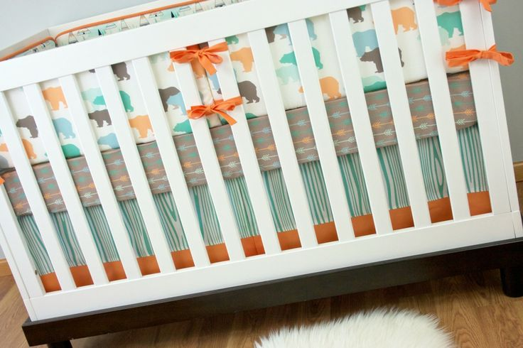 I spy adorable arrow crib sheets (a 2014 nursery trend!) from @Modified Tot by Holly Alfton! We love their modern nursery gear. #PNapproved: Neutral Colors