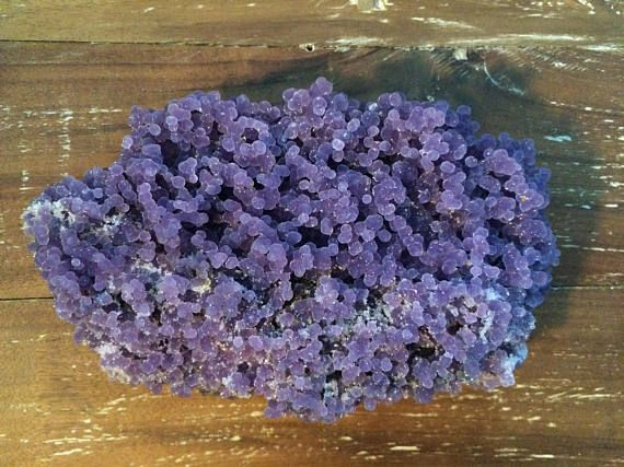 "Beautiful Rare Indonesian Grape Agate ""Batu Manakarra"" Deep Purple Specimen GR004"