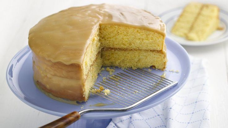 Want to hook up with a recipe that's got homemade taste and can be made with a beginner's skill? Then this is for you! This easy, moist yellow cake is covered with a rich, satin caramel frosting. The flavor goes for miles!