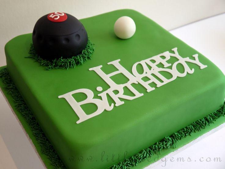 Birthday Bowl: Lawn Bowls Birthday Cake - Www.littleicedgems.com
