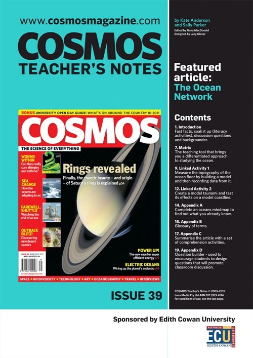 Teachers Notes INT : Issue 39, The Ocean network