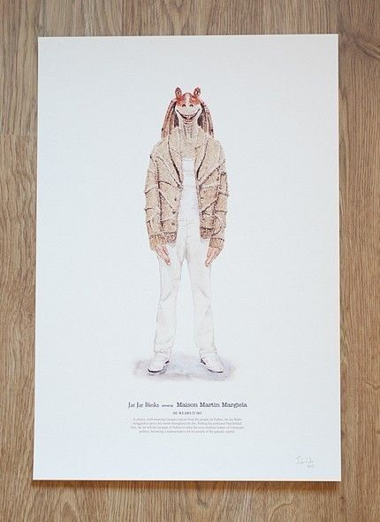 Jar Jar Binks wears Maison Martin Margiela by John Woo.