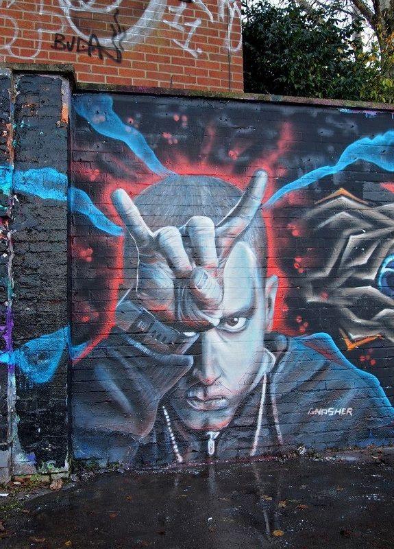 181 best g r a f f i t i images on pinterest urban for Eminem wall mural