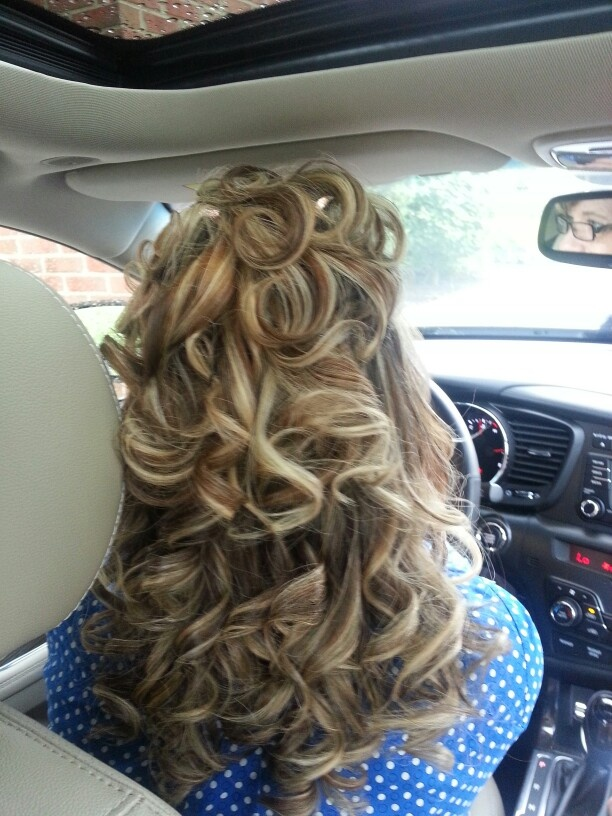 How many girls would love to see they're guy drive home from the salon looking like this???