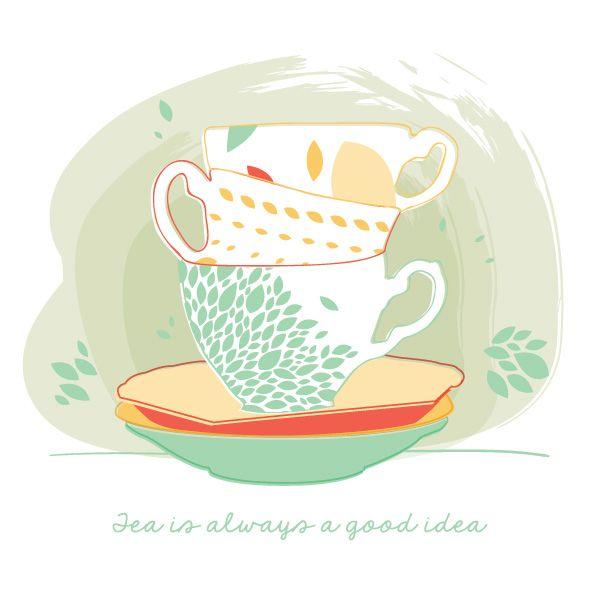 Tea Is Always A Good Idea Vector Graphic