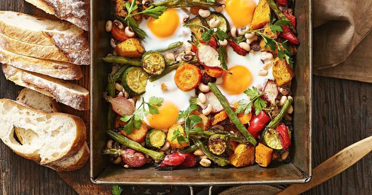Cheap, healthy and easy to prepare, this egg tray bake with vegetables is a cracking dinner idea.