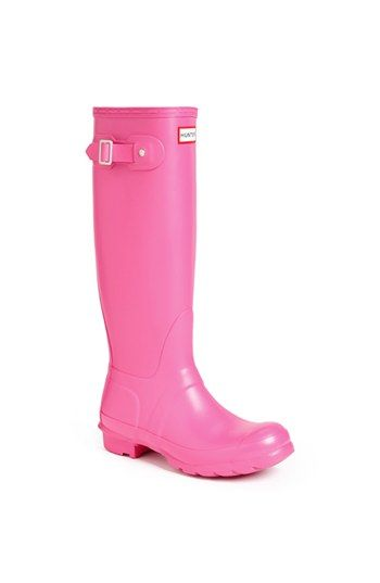 Hunter 'Original Tall' Rain Boot (Women) available at #Nordstrom .....i love the pink...but I also love the black!! ahhh decisions decisions....
