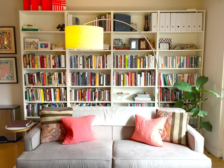 The Best Spot for Small Space Storage May Be Right Behind You  If you're hard up for storage solutions, you may be looking below your sofa or your bed, or above your cabinets — but what about behind? It's a little unconventional, but placing a shelf behind your sofa, or your desk, or your bed, is a great way to squeeze in a little extra storage without taking up a lot of space. The difficulty with this, of course, is that it makes the bottom row of shelves (or whatever falls behind the sofa)…