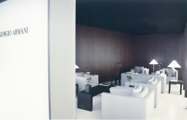 Giorgio Armani stand, 2002 | project Luisella Italia + Domenico Raimondi | www.facebook.com/thesignlab