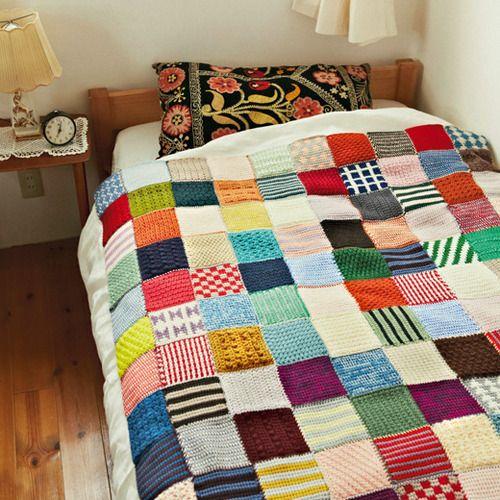 ぽってり編み地がなつかしい アフガン編みのサンプラーの会