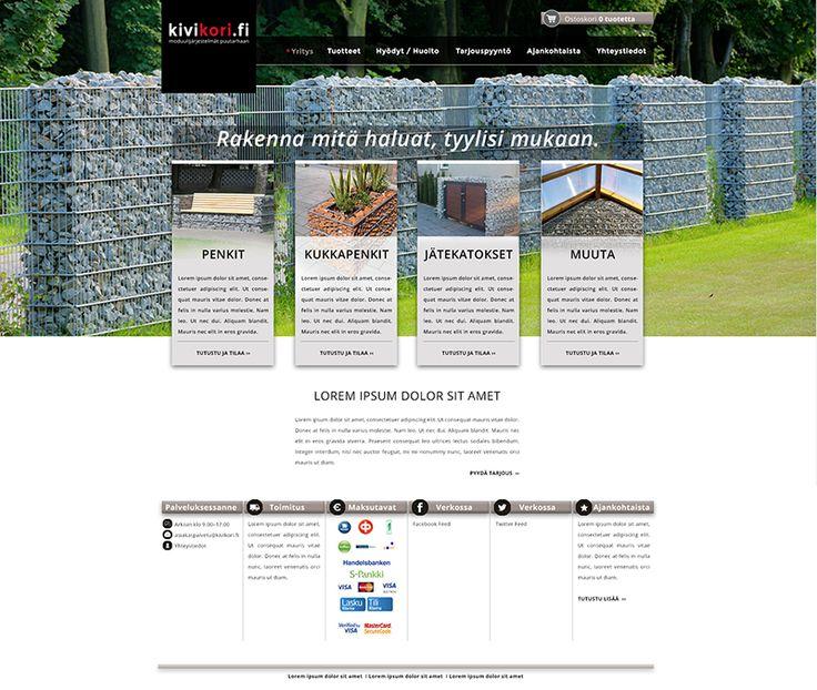 www.ninavirtanen.fi Verkkokaupan www.kivikori.fi visuaalisen ilmeen suunnittelu, tekninen toteutus Opiferum Oy. #graafinensuunnittelu #graphicdesign