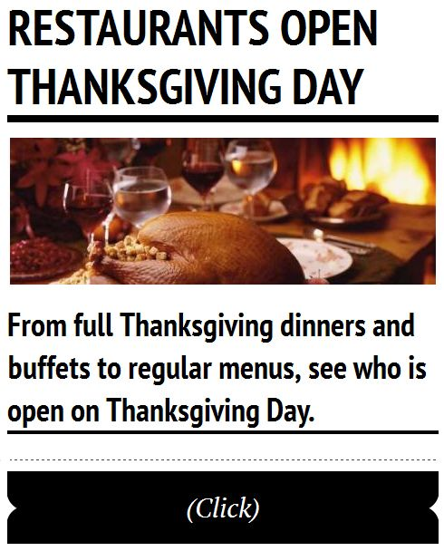 Restaurants open thanksgiving day in fredericksburg texas for What restaurants are open on thanksgiving